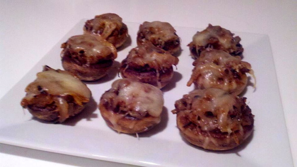 French Onion Soup Stuffed Mushrooms - Kitchen Ade